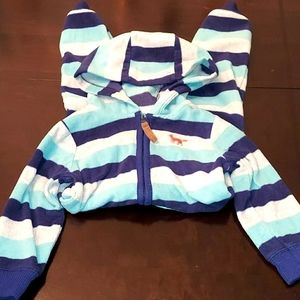 Carter's Striped Hooded Jumpsuit 18M